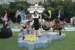 Hong Kong Arts in the Park Mardi Gras event 2014 Stock Images