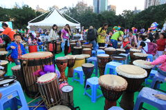 Hong Kong Arts in the Park Mardi Gras event 2014 Royalty Free Stock Image