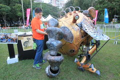 Hong Kong Arts in the Park Mardi Gras event 2014 Royalty Free Stock Images