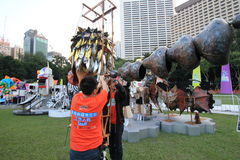 Hong Kong Arts in the Park Mardi Gras event 2014 Stock Photography