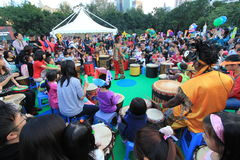 2014 Hong Kong Arts in the Park Mardi Gras event Stock Photo