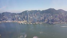 Hong Kong asia ö som bygger Arkivbild