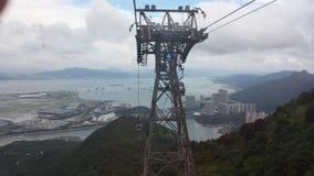 Hong Kong auf der Luft Stockbild