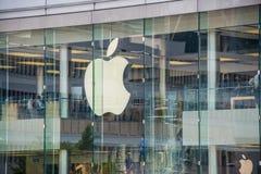 Hong Kong - AUGUST 1, 2014: Hong Kong Apple Store Stock Photo