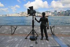 Hong Kong The Avenue av stjärnor Arkivfoton