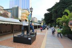 Hong Kong Avenue of Comic Stars Stock Photos