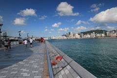 Hong Kong The Avenue das estrelas Fotografia de Stock