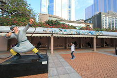 Hong Kong Avenue de estrelas cômicas Fotografia de Stock Royalty Free