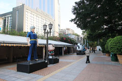 Hong Kong Avenue de estrelas cômicas Imagem de Stock Royalty Free