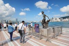 Hong Kong The Avenue delle stelle Fotografia Stock