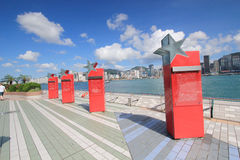 Hong Kong The Avenue delle stelle Immagini Stock