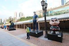 Hong Kong Avenue delle stelle comiche Immagini Stock Libere da Diritti