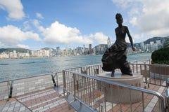 Hong Kong The Avenue des étoiles Photographie stock libre de droits