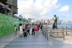 Hong Kong The Avenue des étoiles Photo stock