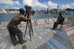 Hong Kong The Avenue des étoiles Images stock