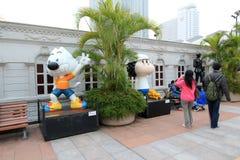 Hong Kong Avenue des étoiles comiques Photo stock