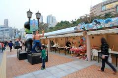 Hong Kong Avenue des étoiles comiques Photo libre de droits