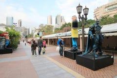 Hong Kong Avenue des étoiles comiques Image stock