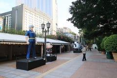 Hong Kong Avenue des étoiles comiques Image libre de droits