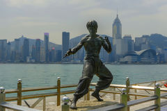 Hong Kong Avenue of Stars Bruce Lee statue Stock Photography