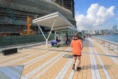 Hong Kong The Avenue van Sterren Royalty-vrije Stock Foto's