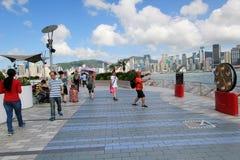 Hong Kong The Avenue van Sterren Stock Foto's