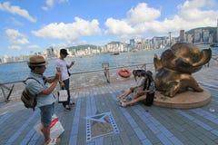 Hong Kong The Avenue van Sterren Stock Fotografie