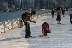 Hong Kong The Avenue van Sterren Stock Afbeelding