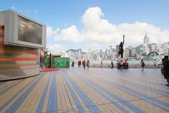 Hong Kong The Avenue von Sternen stockbilder