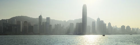 Hong Kong in backlight Royalty Free Stock Image