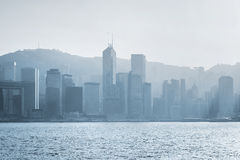 Hong Kong in backlight Stock Photos