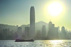 Hong Kong in a backlight Stock Image