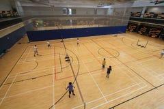 Hong Kong badminton hall in Hang Hau Sports Centre Royalty Free Stock Photography
