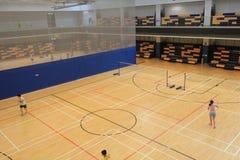Hong Kong badminton hall in Hang Hau Sports Centre Stock Photos