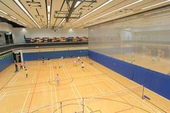 Hong Kong badminton hall in Hang Hau Sports Centre Stock Photo