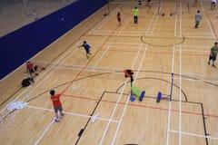 Hong Kong badminton hall in Hang Hau Sports Centre Royalty Free Stock Image