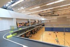 Hong Kong badminton hall in Hang Hau Sports Centre Royalty Free Stock Photo
