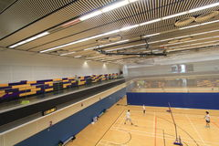 Hong Kong badminton hall in Hang Hau Sports Centre Royalty Free Stock Images