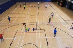 Hong Kong-Badmintonhalle in Hang Hau Sports Centre Stockfotografie
