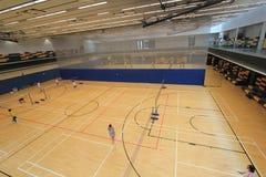 Hong Kong-badmintonzaal in Hang Hau Sports Centre Stock Foto