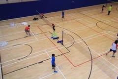 Hong Kong-badmintonzaal in Hang Hau Sports Centre Royalty-vrije Stock Afbeelding