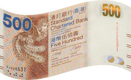 Hong Kong bank notes, five hundred dollar Royalty Free Stock Images
