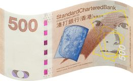 Hong Kong bank notes, five hundred dollar Stock Photography