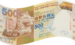 Hong Kong bank notes, five hundred dollar Stock Images