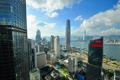 Hong Kong Bank Skysraper com céu azul Imagem de Stock Royalty Free