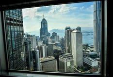 Hong Kong Bank Skysraper com céu azul Foto de Stock Royalty Free