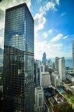 Hong Kong Bank Skysraper com céu azul Imagens de Stock Royalty Free