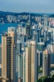 Hong Kong Bay Central skyline cityscape Royalty Free Stock Photos
