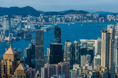 Hong Kong Bay Central skyline cityscape Stock Images