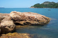 Hong Kong Beach. This is a photo taken on one of the many islands in Hong Kong Royalty Free Stock Photography